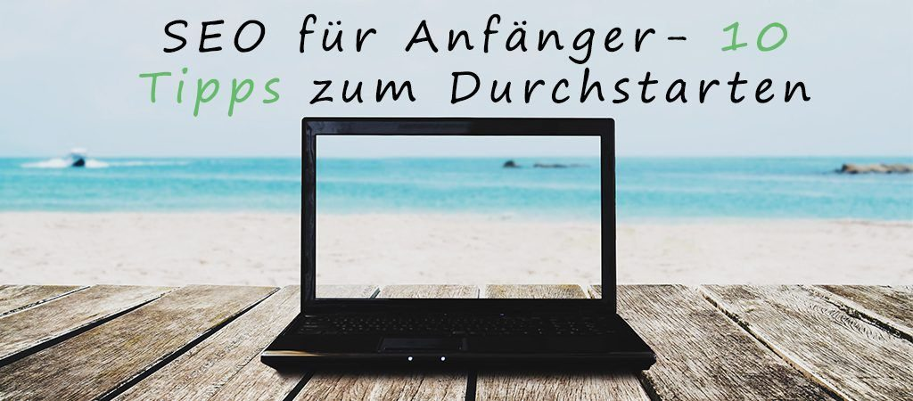 Laptop am Strand