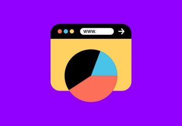 Webbrowser Illustration auf lila Hintergrund
