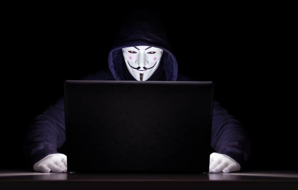 Maskierter Hacker