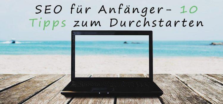 Laptop am Strand