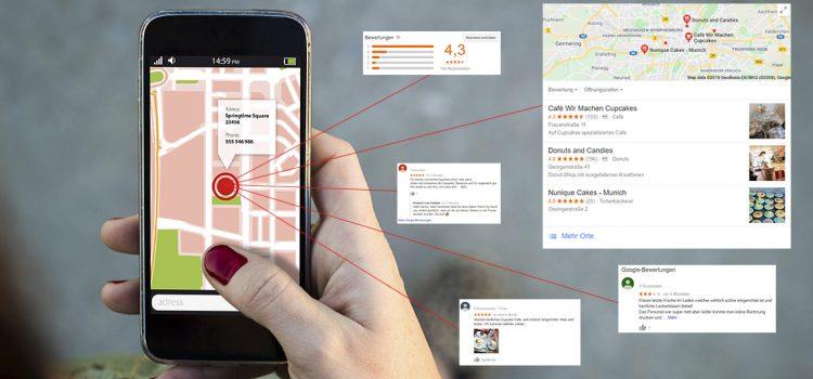 Lokale Suchanfrage über das Smartphone