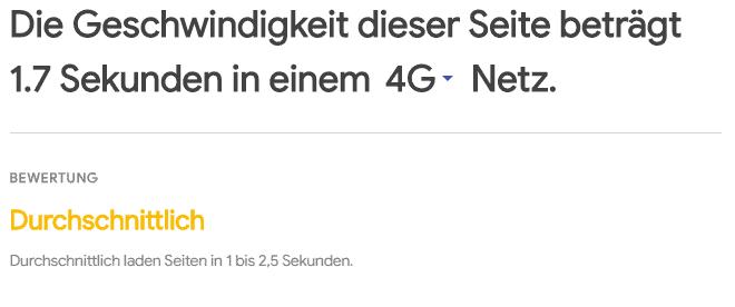 Ladezeiten in einem 4G Netz