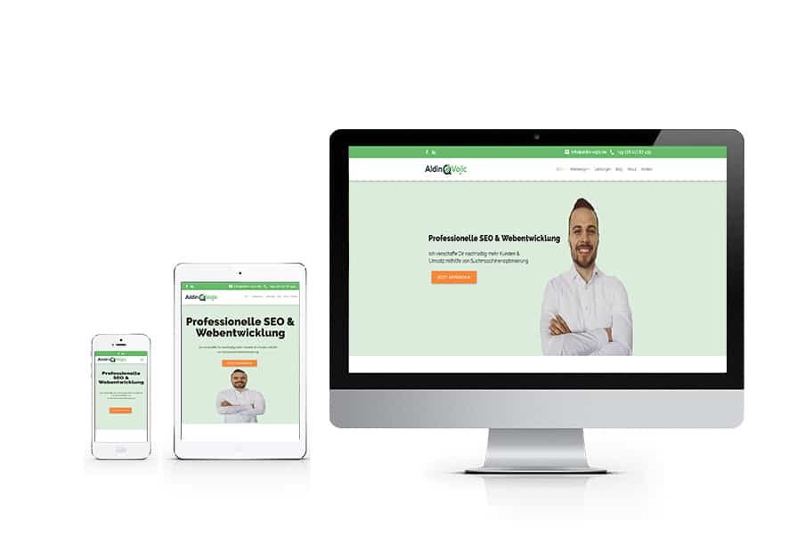 Responsive Webdesign am Beispiel aldin-vojic.de