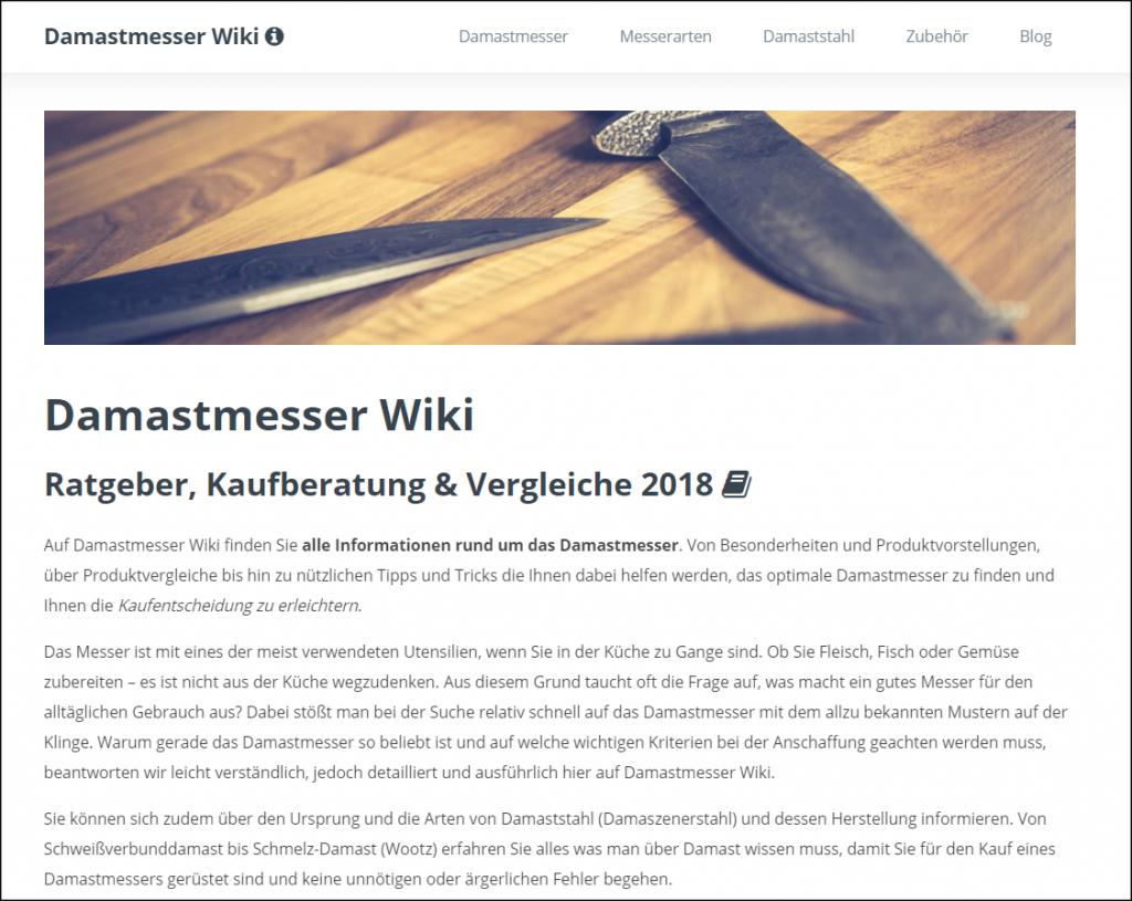 Keyword Domain Damastmesser Wiki Startseite